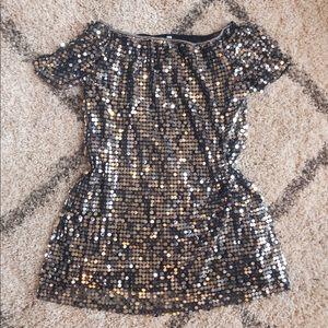 Xhilaration Dresses - 🛍 3/$20🛍 Silver Sequin Shift Dress
